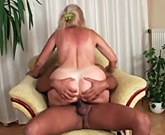 Hot mature lady with big tits gets big black cock