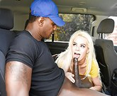 TLBC – Young sexy blonde Elsa Jean sucks BBC in backseat of car